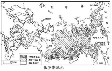 """读""""俄罗斯和美国地形图"""""""